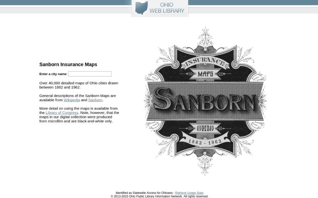 Ohio web library research databases sanborn fire insurance maps gumiabroncs Gallery